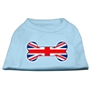 Mirage Pet Products Bone Shaped United Kingdom (Union Jack) Flag Screen Print Shirts Baby Blue XXXL(20)