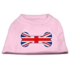 Mirage Pet Products Bone Shaped United Kingdom (Union Jack) Flag Screen Print Shirts Light Pink XS (8)