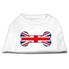 Mirage Pet Products Bone Shaped United Kingdom (Union Jack) Flag Screen Print Shirts White XXXL(20)