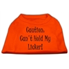 Mirage Pet Products Can't Hold My Licker Screen Print Shirts Orange Sm (10)