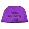Mirage Pet Products Can't Hold My Licker Screen Print Shirts Purple Sm (10)