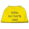 Mirage Pet Products Can't Hold My Licker Screen Print Shirts Yellow Lg (14)