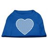 Mirage Pet Products Chevron Heart Screen Print Dog Shirt Blue Lg (14)