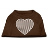 Mirage Pet Products Chevron Heart Screen Print Dog Shirt Brown XL (16)