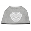 Mirage Pet Products Chevron Heart Screen Print Dog Shirt Grey XL (16)
