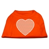 Mirage Pet Products Chevron Heart Screen Print Dog Shirt Orange XXXL (20)