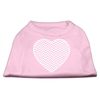Mirage Pet Products Chevron Heart Screen Print Dog Shirt Light Pink XXL (18)