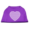 Mirage Pet Products Chevron Heart Screen Print Dog Shirt Purple XL (16)