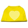 Mirage Pet Products Chevron Heart Screen Print Dog Shirt Yellow Med (12)