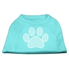 Mirage Pet Products Chevron Paw Screen Print Shirt Aqua Lg (14)