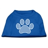 Mirage Pet Products Chevron Paw Screen Print Shirt Blue Med (12)
