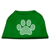 Mirage Pet Products Chevron Paw Screen Print Shirt Green Sm (10)