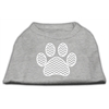 Mirage Pet Products Chevron Paw Screen Print Shirt Grey XXL (18)