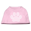 Mirage Pet Products Chevron Paw Screen Print Shirt Light Pink XXL (18)