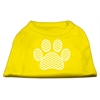 Mirage Pet Products Chevron Paw Screen Print Shirt Yellow Lg (14)