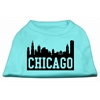 Mirage Pet Products Chicago Skyline Screen Print Shirt Aqua Lg (14)