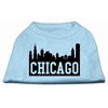 Mirage Pet Products Chicago Skyline Screen Print Shirt Baby Blue XS (8)