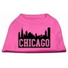 Mirage Pet Products Chicago Skyline Screen Print Shirt Bright Pink Med (12)