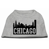 Mirage Pet Products Chicago Skyline Screen Print Shirt Grey XL (16)
