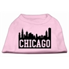 Mirage Pet Products Chicago Skyline Screen Print Shirt Light Pink XS (8)