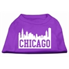 Mirage Pet Products Chicago Skyline Screen Print Shirt Purple Lg (14)