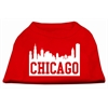 Mirage Pet Products Chicago Skyline Screen Print Shirt Red Lg (14)