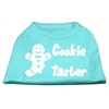 Mirage Pet Products Cookie Taster Screen Print Shirts Aqua Lg (14)
