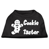 Mirage Pet Products Cookie Taster Screen Print Shirts Black XS (8)