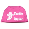 Mirage Pet Products Cookie Taster Screen Print Shirts Bright Pink XS (8)
