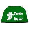 Mirage Pet Products Cookie Taster Screen Print Shirts Emerald Green Sm (10)