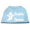 Mirage Pet Products Cookie Taster Screen Print Shirts Baby Blue Med (12)