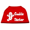 Mirage Pet Products Cookie Taster Screen Print Shirts Red XS (8)