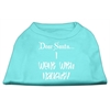 Mirage Pet Products Dear Santa I Went with Naughty Screen Print Shirts Aqua XS (8)