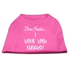 Mirage Pet Products Dear Santa I Went with Naughty Screen Print Shirts Bright Pink XXL (18)