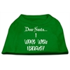 Mirage Pet Products Dear Santa I Went with Naughty Screen Print Shirts Emerald Green XXL (18)