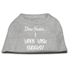 Mirage Pet Products Dear Santa I Went with Naughty Screen Print Shirts Grey Med (12)