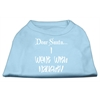 Mirage Pet Products Dear Santa I Went with Naughty Screen Print Shirts Baby Blue Med (12)