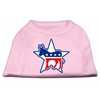 Mirage Pet Products Democrat Screen Print Shirts Light Pink XXXL(20)