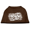 Mirage Pet Products Dirty Dogs Screen Print Shirt Brown Med (12)