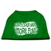 Mirage Pet Products Dirty Dogs Screen Print Shirt Emerald Green XS (8)