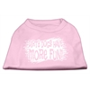 Mirage Pet Products Dirty Dogs Screen Print Shirt Light Pink XL (16)