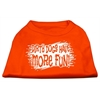 Mirage Pet Products Dirty Dogs Screen Print Shirt Orange Lg (14)