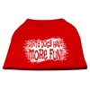 Mirage Pet Products Dirty Dogs Screen Print Shirt Red Med (12)