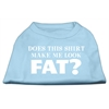 Mirage Pet Products Does This Shirt Make Me Look Fat? Screen Printed Shirt Baby Blue XXXL (20)