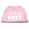 Mirage Pet Products Does This Shirt Make Me Look Fat? Screen Printed Shirt Light Pink XS (8)