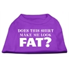 Mirage Pet Products Does This Shirt Make Me Look Fat? Screen Printed Shirt Purple Lg (14)