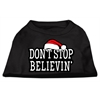 Mirage Pet Products Don't Stop Believin' Screenprint Shirts Black XS (8)
