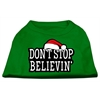 Mirage Pet Products Don't Stop Believin' Screenprint Shirts Emerald Green XS (8)