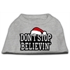 Mirage Pet Products Don't Stop Believin' Screenprint Shirts Grey XS (8)