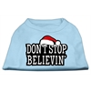 Mirage Pet Products Don't Stop Believin' Screenprint Shirts Baby Blue XS (8)